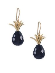 Annette Ferdinandsen Black Onyx And 18K Yellow Gold Earrings