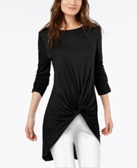 Inc International Concepts Twist Front Tunic Created For Macy's Black