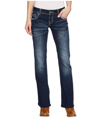 Rock And Roll Cowgirl Low Rise Bootcut In Dark Vintage W0 5071 Dark Vintage Jeans Navy