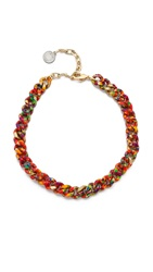 Gemma Redux Splatter Chain Necklace Splatter Rainbow