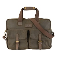 Barbour Duxford 24 Hour Waxed Wool Messenger Bag Olive