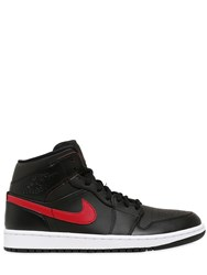 Nike Air Jordan 1 Mid Faux Leather Sneakers