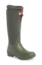 Hunter 'Original Tour' Neoprene Waterproof Boot Women Dark Olive Green