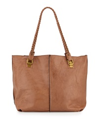 Elliott Lucca Mathilde Chain Leather Tote Bag Brown