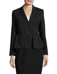 Ivanka Trump Pleated Cotton Blazer Black