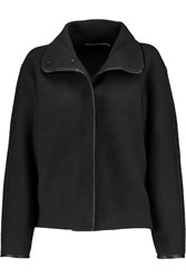 J Brand Martha Leather Trimmed Wool Boucle Jacket