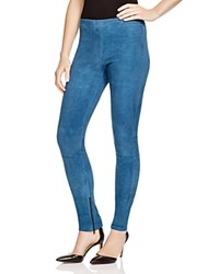 Vince Suede Ankle Zip Leggings Teal