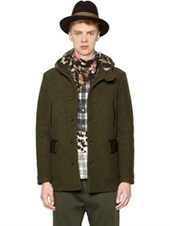 Antonio Marras Hooded Bonded Wool Felt Coat