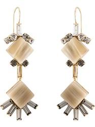 Marni Diamond Shaped Earrings Metallic