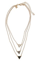 Panacea Women's Drusy Multistrand Necklace