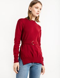 Pixie Market Scarlet Red Belted Sweater
