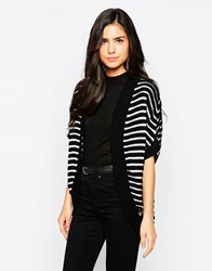 Lipsy Shrug Cardigan In Mono Stripe 138Monochrome