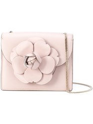 Oscar De La Renta Floral Shoulder Bag Pink And Purple