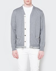 Sacai Cotton Cashmere Knit Cardigan Gray