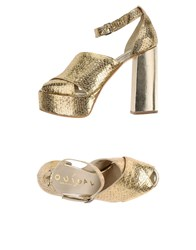 Ouigal Sandals Gold