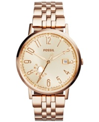 Fossil Women's Vintage Muse Rose Gold Tone Stainless Steel Bracelet Watch 40Mm Es3789