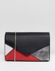 Nali Patchwork Shoulder Bag Red