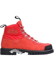 Off White 'King Cordura' Boots Red