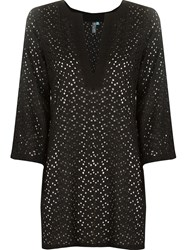 Sub V Neck Kaftan Black