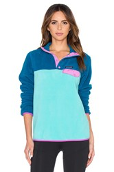 Patagonia Lightweight Synchilla Snap T Pullover Blue