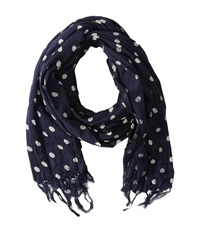 Scotch And Soda Printed Polka Dot Scarf Navy Scarves