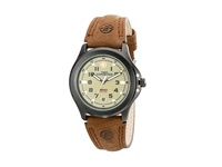 Timex Metal Field Expedition Brown Leather Strap Watch Gunmetal Watches Gray
