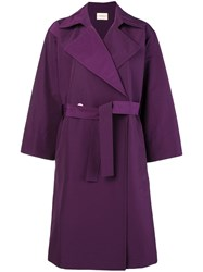 Simon Miller Belted Trench Coat Pink And Purple