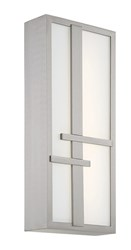Modern Forms Intersect Outdoor Wall Light Brushed Aluminum Silver