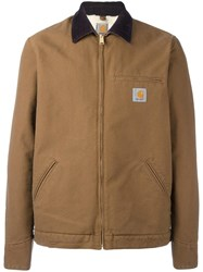 Carhartt 'Canvas' Bomber Jacket Brown