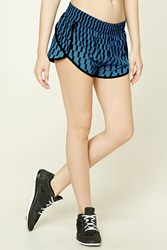 Forever 21 Active Geo Print Shorts Royal Multi
