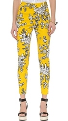 Red Valentino Bouquet Print Crop Pants Mimosa