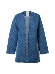 White Stuff Quilted Homespun Jacket Blue