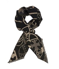 Vivienne Westwood Abstract Orb Scarf Black