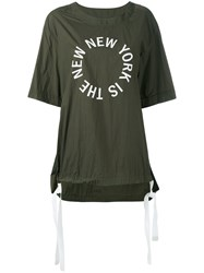 Dkny The New New York Shirt With Drawcords Green