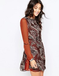Glamorous Skater Dress Dark Brown