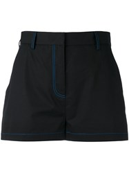 Msgm Stitched Detail Shorts Black