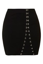 Hooked On You Fitted Mini Skirt By Wyldr Black