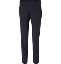 Valentino Slim Fit Wool Blend Trousers Blue