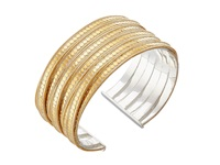 Anna Beck Twisted Wide Cuff Sterling Silver W 18K Gold Vermeil Bracelet