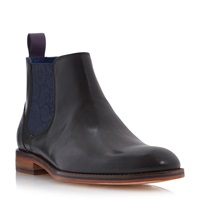 Ted Baker Camroon Paisley Panel Chelsea Boots Black