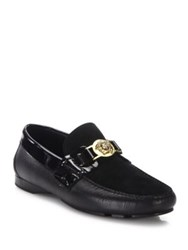 Versace Medusa Leather Loafers Yellow