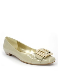 Ellen Tracy Gretchen Patent Leather Low Heels Nude Patent