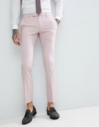 Noose And Monkey Wedding Super Skinny Suit Trousers In Light Pink
