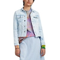 Frame Marbled Dyed Denim Trucker Jacket Blue