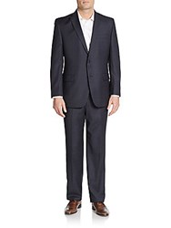 Vince Camuto Modern Fit Tonal Windowpane Wool Suit Navy