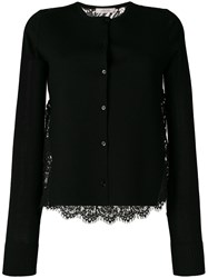 Dorothee Schumacher Round Neck Cardigan With Lace Back Black