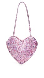 Maryam Nassir Zadeh Heart Purse Violet Marble