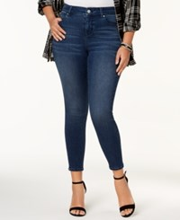 Celebrity Pink Plus Size High Rise Ripped Skinny Ankle Jeans Windy City