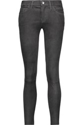 Current Elliott The Stiletto Suede Skinny Pants Anthracite