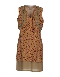 Barba Napoli Short Dresses Khaki